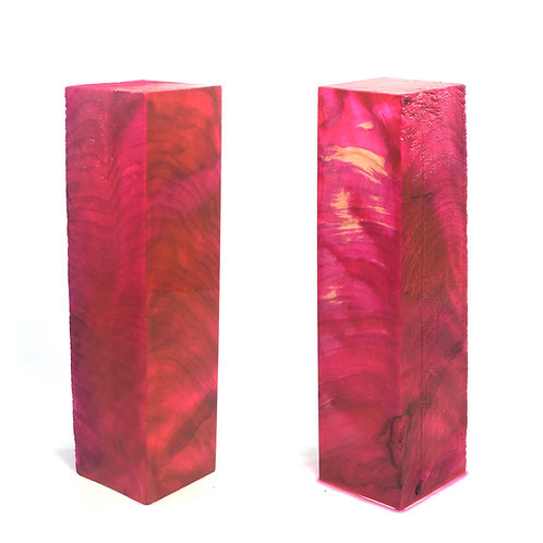Custom Block - Pink Dyed Maple Burl