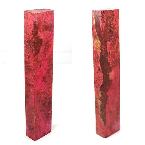 Custom Block - Pink Dyed Black Ash Burl