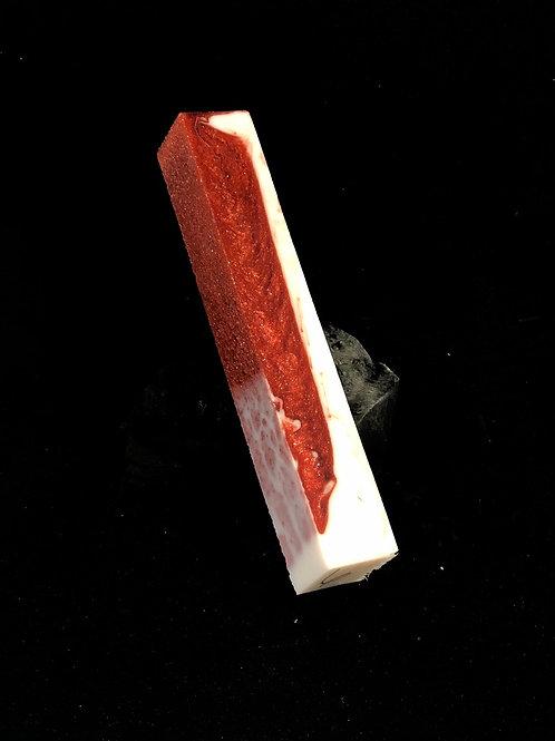Pen Blank - Alumilite Resin - Shimmer Red and White