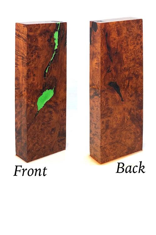 Knife Scale Block - Hybrid Amboyna Burl and Resin