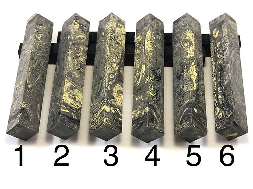 Pen Blanks - Alumilite Resin Green,Yellow and Black