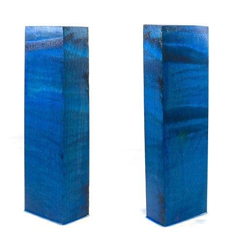 Custom Block - Blue Dyed Maple
