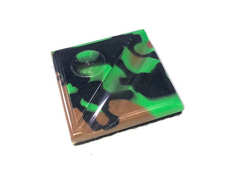 Alumilite Resin - Cress Pen Stand - Camo Green, Black and Brown