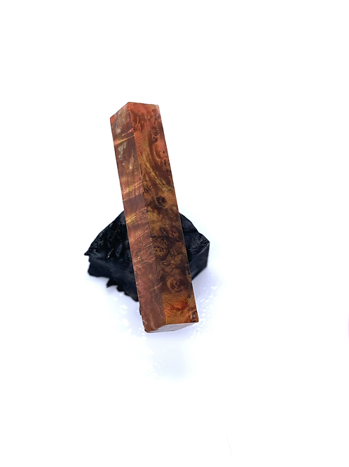 Pen Blank - Multi-dyed Pink and Gold Maple Burl