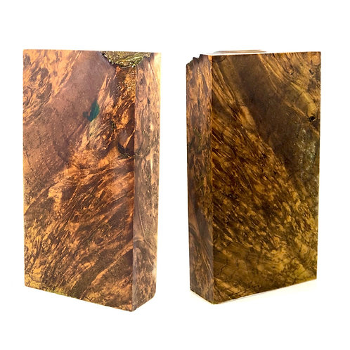 Custom Block - Gold Dyed Maple Burl