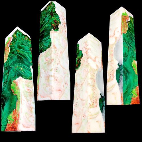 Custom Block - Hybrid Dyed Maple Burl with Resin