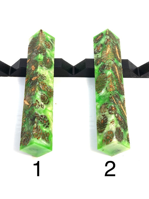 Pen Blank - Hybrid Natural Cone with Resin