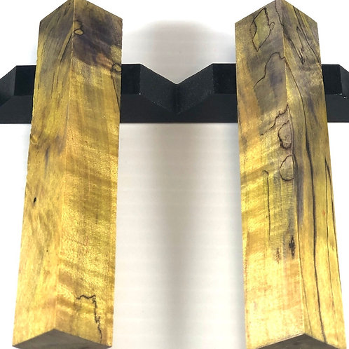 Pen Blank - Dyed Spalted Hackberry Wood