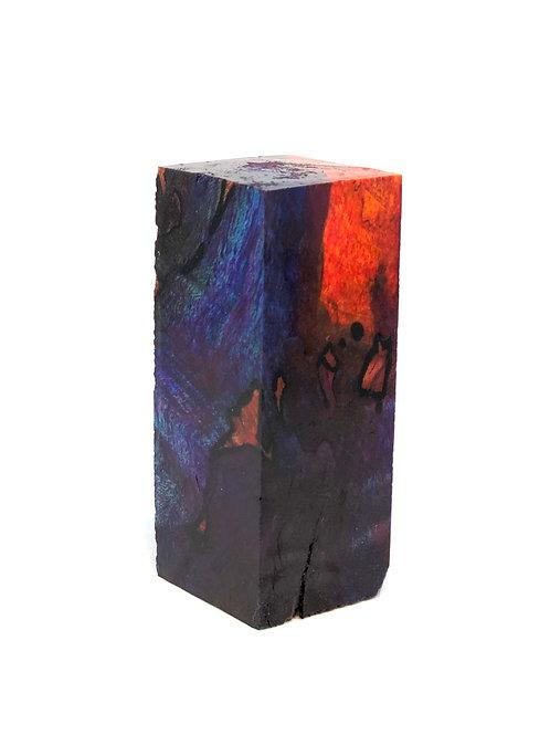 Custom Block - Multi-dyed Spalted Maple Burl