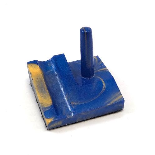Junior Series Alumilite Resin Pen Stand - Blue & Gold