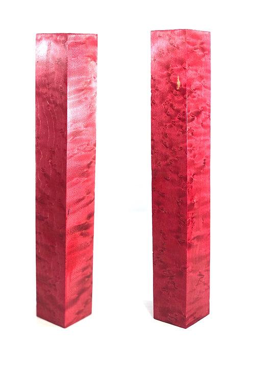 Custom Block - Pink Dyed Birds Eye Maple