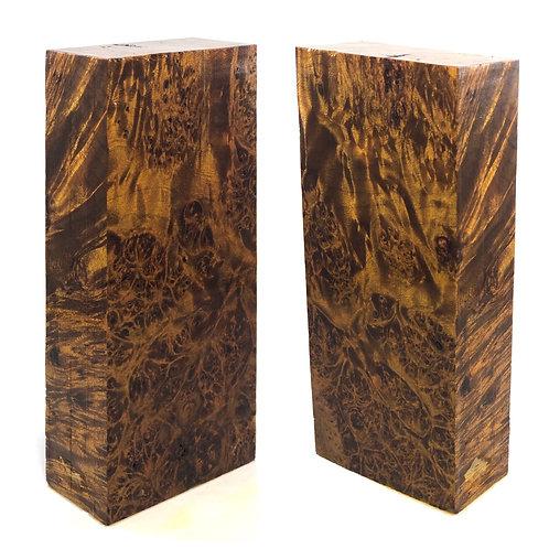 Custom Block - Dyed Maple Burl
