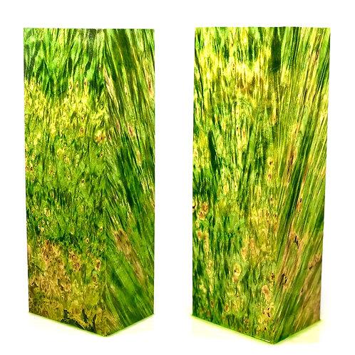 Custom Block - Green Dyed Box Elder