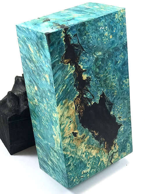 Custom Block - Hybrid Dyed Box Elder Burl with Resin