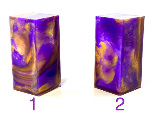 Custom Block - Resin with Purple and Gold