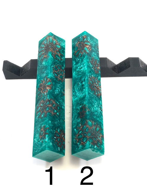Pen Blank - Hybrid Sweet Gum Pods with Resin