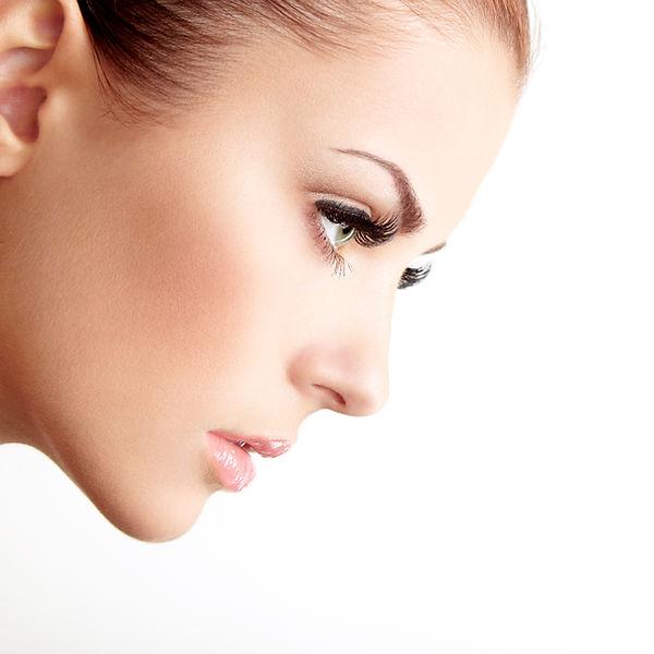 Woman with Long Eyelashes