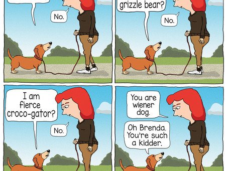 Wiener dog can't handle the truth