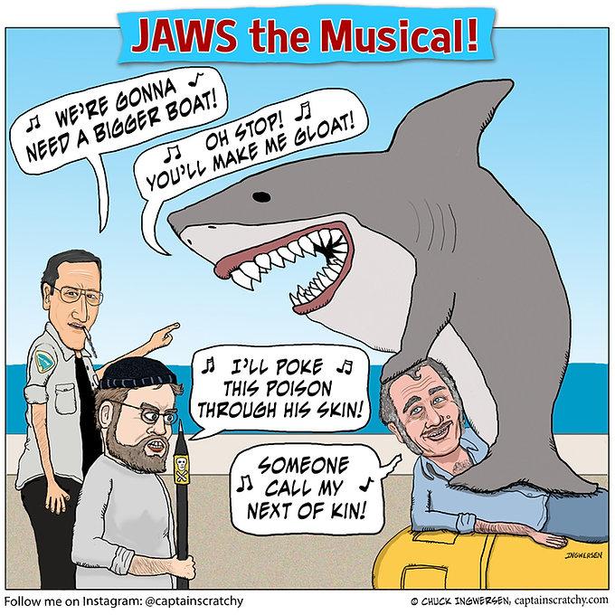 funny Jaws the Musical parody cartoon