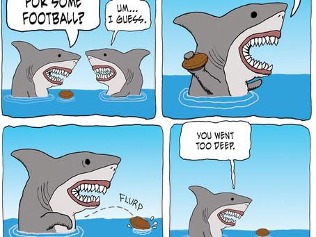 Sharks aren't good at football