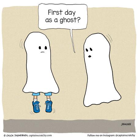 Embarrassing ghost boo boo