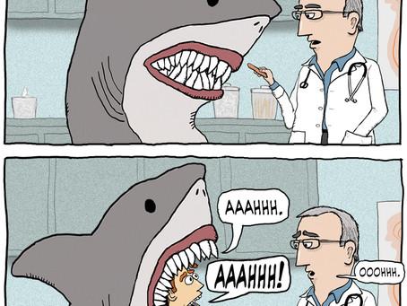 A shark walks into a doctor's office...