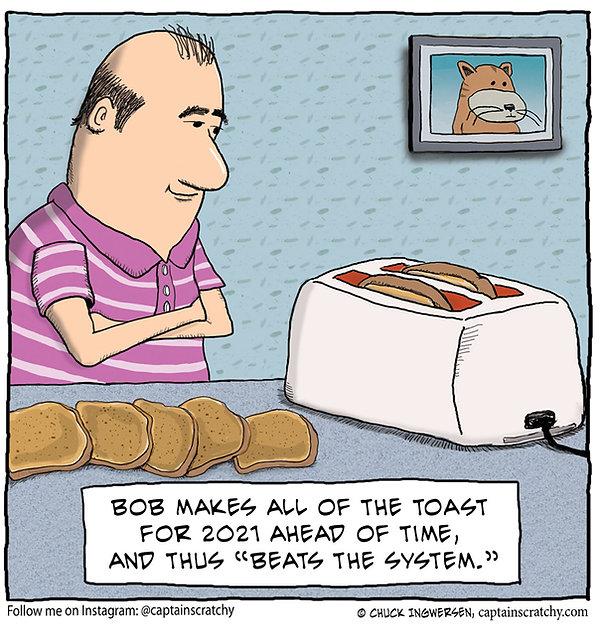 funny king of toast cartoon