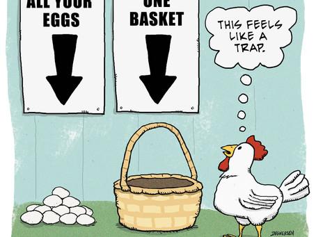 Chicken smells a trap