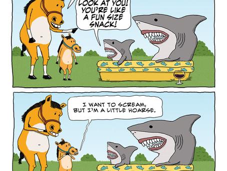 When Little Horse met Baby Shark