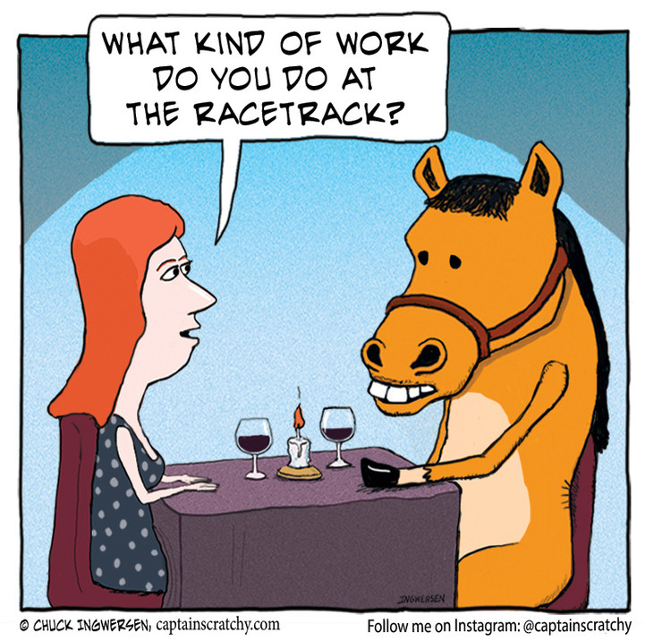 A night out with a horse
