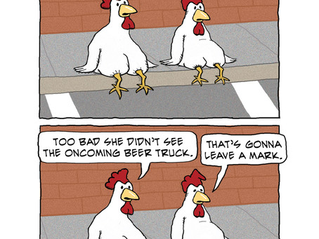 Why the chicken really crossed the road