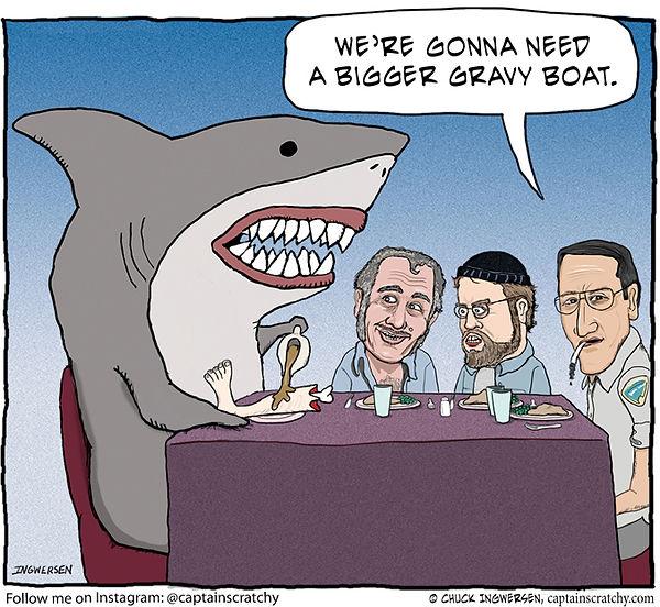 funny Jaws parody cartoon