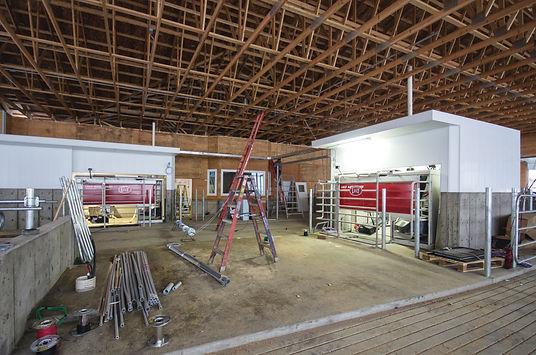 Dairy barn interior