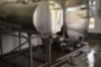 Rosegate dairy milk tanks inside milk house