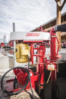 """Jamesway 16"""" manure pump"""
