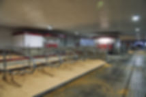 Dairy barn interior with Lely A4 robots
