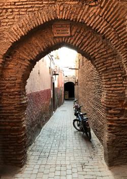 Passageway with Bikes, Marrakesh