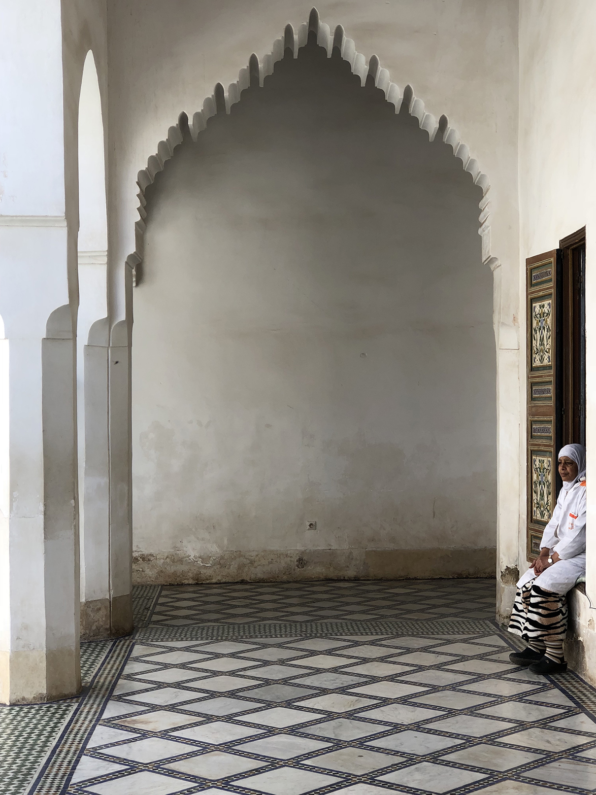 Bahia Palace Attendant, Marrakesh