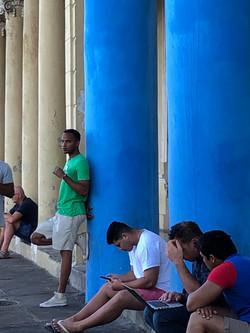 Havana Blue Columns