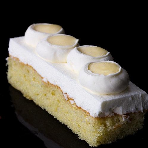 Cake: olive oil, Greek yogurt, ginger, lime curd