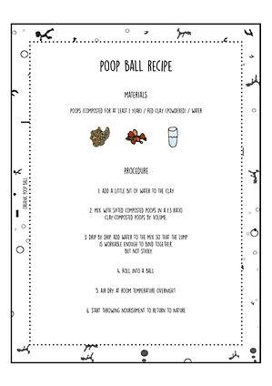 Poop-ball Recipe