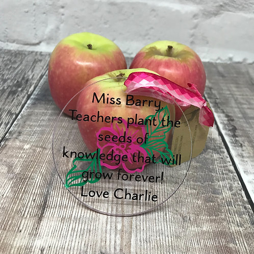 Teachers plant the seeds of knowledge lage flower disc