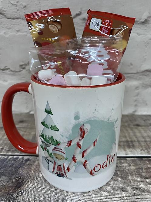 Santa initial mug