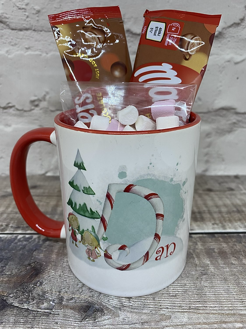 Elf initial mug