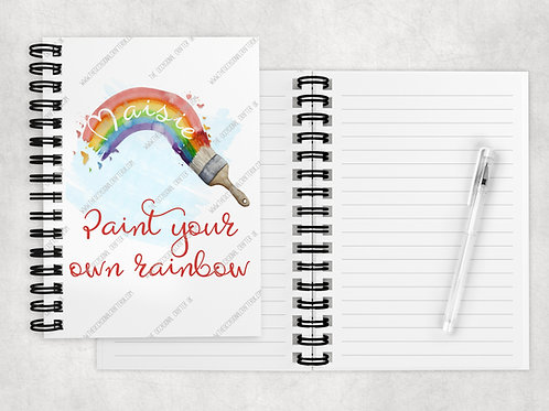 Paint your rainbow A5 notebook
