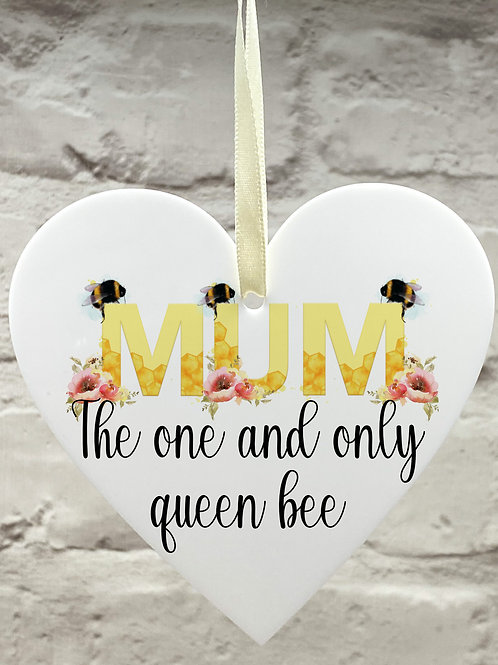 Queen bee mum heart