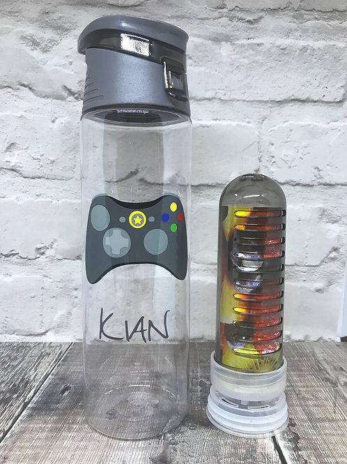 Charcoal fruit infuser water bottle various designs
