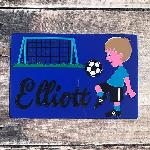 Football Door Plaque