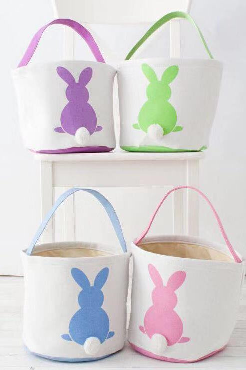 Canvas bunny bucket