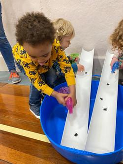Preschool children working on fine motor skills at Super Phonics